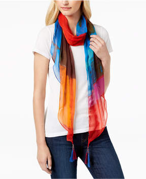 INC International Concepts I.n.c. Tie-Dye Tassel Bias Scarf, Created for Macy's