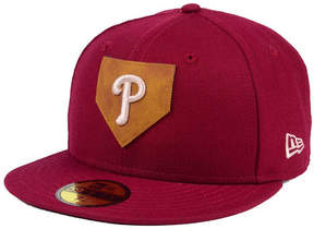 New Era Philadelphia Phillies The Logo of Leather 59FIFTY Fitted Cap
