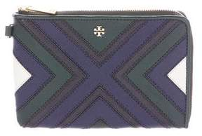 Tory Burch Stitched Clutch - BLUE - STYLE