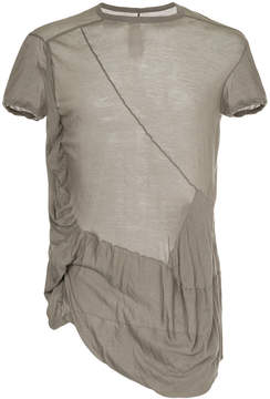 Rick Owens sheer asymmetric T-shirt