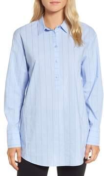Nordstrom Signature Keyhole Back Stripe Tunic Shirt