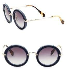 Miu Miu 49MM Round Embellished Acetate & Metal Sunglasses