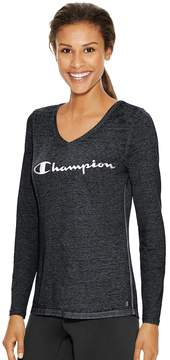 Champion Women's Long Sleeve V-neck Tee