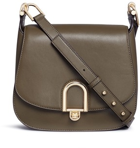 Michael Kors 'Delfina' large leather saddle bag - ONE COLOR - STYLE