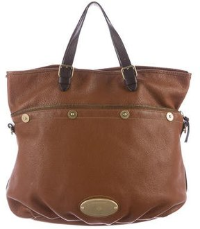 Mulberry Grained Leather Satchel