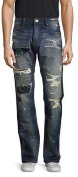 Cult of Individuality Rebel Straight Distressed Denim Pants