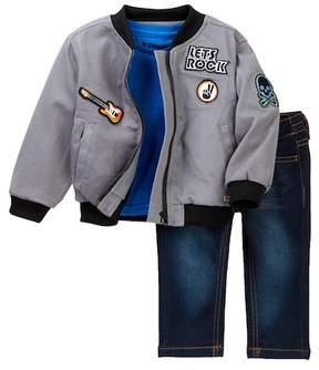 Hudson Twill Bomber Jacket Set (Baby Boys)