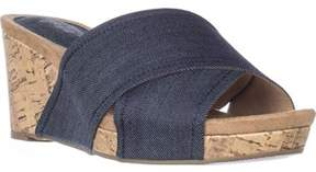 Style&Co. Style & Co. Womens Jillee Canvas Open Toe Casual Platform Sandals.