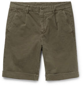 Aspesi Garment-Dyed Brushed Cotton-Twill Chino Shorts