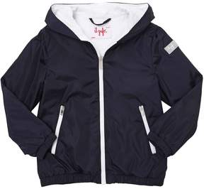 Il Gufo Nylon & Cotton Jersey Hooded Jacket