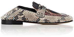 Isabel Marant Women's Fezzy Stamped Leather Penny Loafers