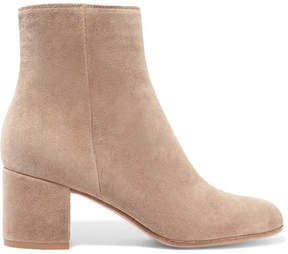 Gianvito Rossi Margaux 65 Suede Ankle Boots - Beige
