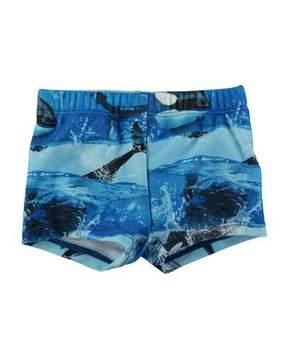 Molo Nansen Killer Whale Swim Shorts, Size 3-24 Months