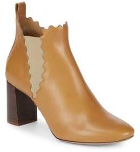 Ralph Lauren Scallop Leather Ankle Boots