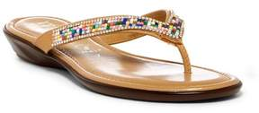 Italian Shoemakers Embellished Thong Sandal