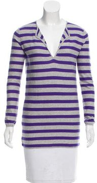 Allude Striped Knit Top