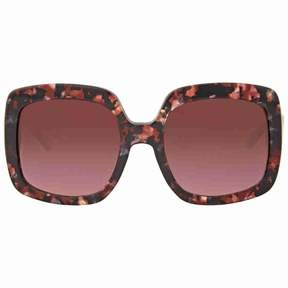 Michael Kors Burgundy Gradient Square Sunglasses