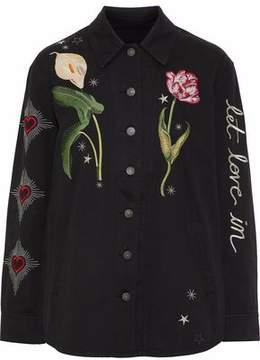 Cinq à Sept Embroidered Denim Jacket
