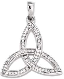 Celtic GEMaffair 925 Sterling Silver White Diamond Form Pendant Charm
