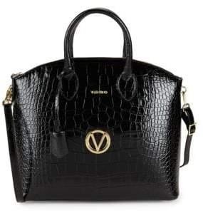 Mario Valentino Bravia Leather Tote Bag