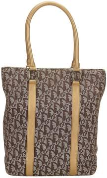 Christian Dior Vintage Brown Cloth Handbag