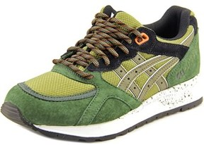 Asics Gel-lyte Speed Youth Round Toe Suede Green Fashion Sneakers.