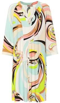 Emilio Pucci Beach Printed jersey V-neck dress