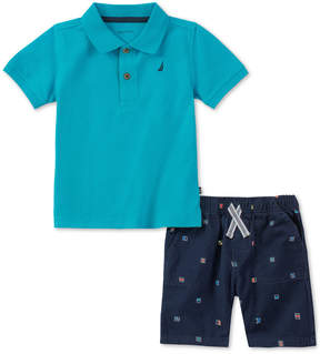 Nautica Baby Boys 2-Pc. Polo Shirt & Shorts Set