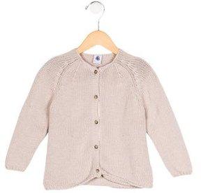 Petit Bateau Girls' Wool Button-Up Sweater