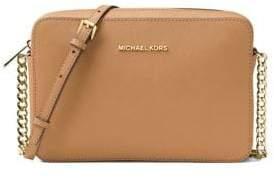 MICHAEL Michael Kors Saffiano Leather Crossbody Bag - ACORN - STYLE