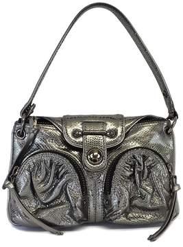 Botkier Silver Metallic Leather Shoulder Bag