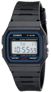 Casio F91W-1 Classic Water Resistant LCD Digital Black Wrist Watch w/ Resin Band