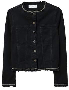 MANGO AppliquA denim jacket