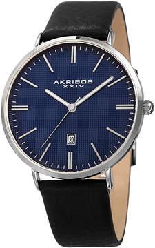 Akribos XXIV Grid Pattern Dial Date Watch, 42mm