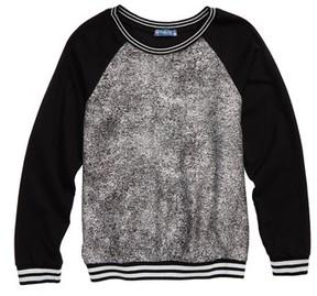 Truly Me Girl's Metallic Sweatshirt