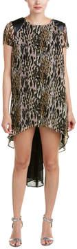 Dress the Population Alondra Leather-Trim Midi Dress