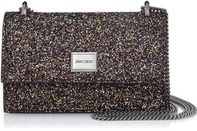 Jimmy Choo LENI Amethyst Mix Twinkle Glitter Fabric Mini Bag