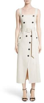 Altuzarra Audrey Button Detail Pinstripe Dress