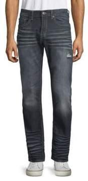 Buffalo David Bitton Whiskered Straight Leg Jeans