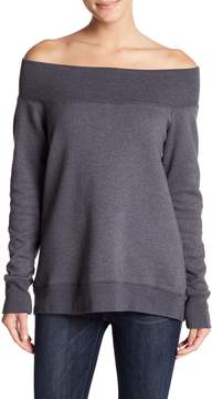 Allen Allen Long Sleeve Off-the-Shoulder Sweater