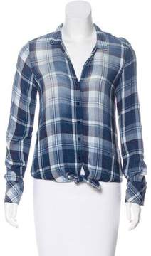 Bella Dahl Plaid Button-Up Top