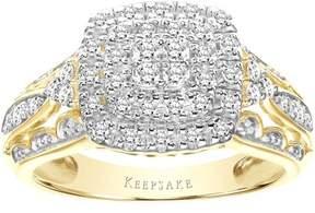 Keepsake Sentiment 3/8 Carat T.W. Certified Diamond 10kt Yellow Gold Ring