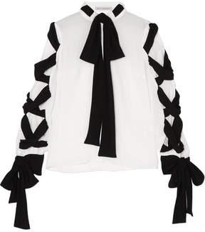Emilia Wickstead Fritz Tie-detailed Crinkled-crepe Blouse - White