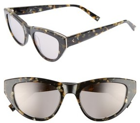 KENDALL + KYLIE Women's Sienna 52Mm Retro Cat Eye Sunglasses - Black Gold Pearl/ Gold