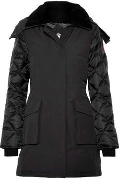 Canada Goose Elwin Shearling-trimmed Quilted Shell And Canvas Down Parka - Black