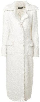 Alexander McQueen fluffy long length coat