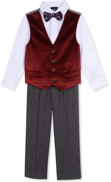 Nautica 4-Pc. Vest, Shirt, Pants & Bowtie Set, Little Boys (4-7)