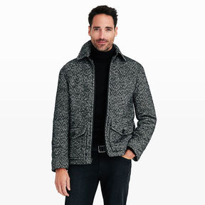Club Monaco Herringbone Zip Jacket
