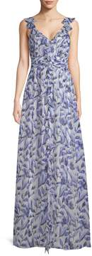 Shoshanna Women's Printed Maxi Gown