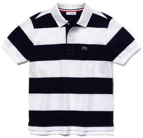 Lacoste Boy's Bar Striped Cotton Polo Shirt